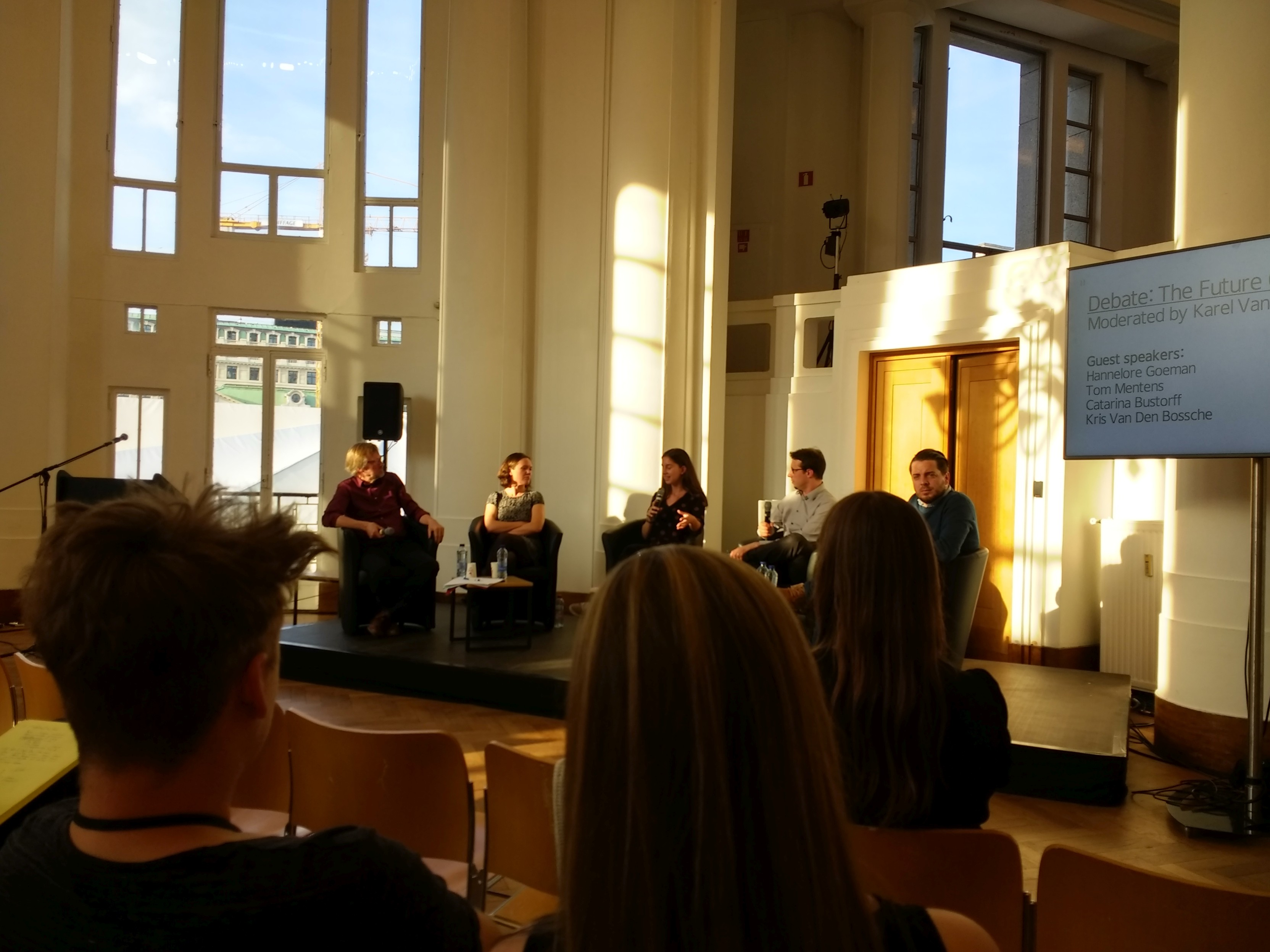 The Future of Work debate at BOZAR (image by YouthProAktiv)